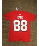 NWT Chicago Blackhawks Patrick Kane Red Adidas Jersey T-Shirt Small New ... - $14.84