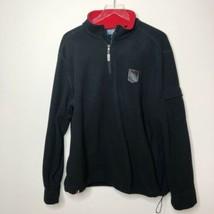 VTG Ralph Lauren Polartec Navy Blue Fleece 1/4 Zip Jacket Size XL Ski Patch - $39.00
