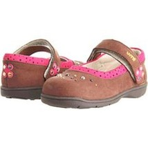 Umi Girls' dana studded  Brown/Pink Shoes , Size US 5.5, EUR 21  - $32.66