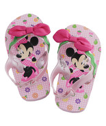 Disney Store Girls Minnie Mouse Clubhouse Flip Flops, Pink, Size 5/6 - $11.50