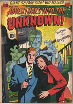 Adventures Into The Unknown Comic Book #25, ACG 1951 VERY GOOD+ - $63.77