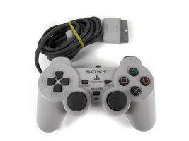 Official OEM Sony PS1 OEM  Controller Grey SCPH-110 Dual Shock Analog  - $11.87