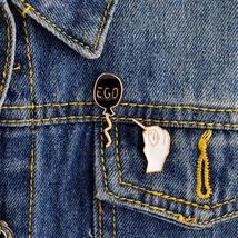 2PCS/SET EGO black balloon and Hand holding the needle pin set Badges Hard ename - $3.99