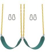 Playground Swings 2 PK Seats Swingset Pair Outdoor Kids Yard Toys Chain ... - $54.40