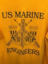 Men's US Marine Engineers Inspector Instructor Staff Yellow Graphic T-Sh... - $9.49