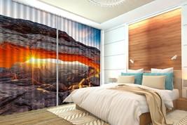3D Sunlight Sky Rock 201 Blockout Photo Curtain Print Curtains Drapes US Lemon - $177.64+