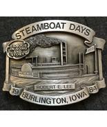 1984 Steamboat Days Robert E Lee Steam Ship Iowa #428/1000 Pewter Belt B... - $19.64