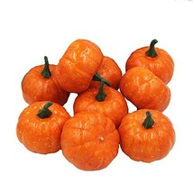 Ehdching Pack of 16 Artificial Realistic Fall Harvest Mini Pumpkins for ... - $14.83