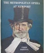 Verdi Festival Show Program Metropolitan Opera Newport 1967 MacBeth Bumbry - $69.25