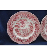 Vtg Meakin Romantic England Red Bread Dessert Plate l - $9.00