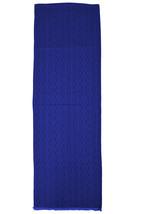 Tory Burch Womens Bird Blue Signature Logo Rectangle Silk Blend Scarf 18... - €125,82 EUR