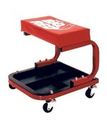 Red Padded Shop Seat Garage Stool Creeper Rolling Work Chair Mechanic To... - $40.49