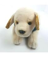 Ulta Plush By Russ Berrie Lab Dog Puppy Green Vest Stuffed Animal Bow Tie - $30.68