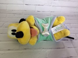 Disney Parks Exclusive Babies 12in Pluto Baby Plush Stuffed Animal Toy & Blanket - $20.56