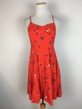 Old Navy Women's Red Spaghetti Strap Floral Summer Sundress Size Small - $14.84