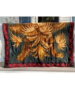 Vintage Stroock Heavy Horse Hair Lap Carriage Buggy Blanket Western Fern... - $124.64
