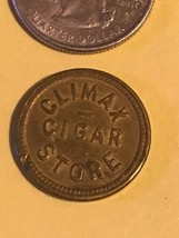 Vintage Antique CLIMAX GOOD FOR TRADE OREGON Cigar Token tobacciana WASH... - $69.99