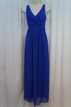Adrianna Papell Dress Sz 8 Royal Blue Chiffon Sleeveless Formal Evening... - $97.90