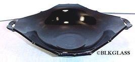 Paden City Ebony Black Glass Flaring Square Centerpiece Bowl - Interesti... - $42.59