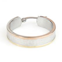 Sophisticated Tri-Color Silver, Gold & Rose Tone Hoop Earrings- United Elegance image 4