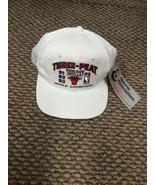 NWT Chicago Bulls Three Peat 1993 NBA Championship White Snapback Hat Ca... - $296.99