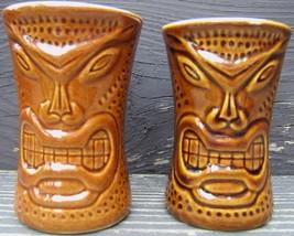 Vintage Tiki Mugs Two Souvenir Ceramic Maui Lu Luau Kihei-Maui Daga Hawa... - $70.10