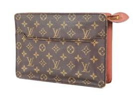 Authentic LOUIS VUITTON Pochette Homme Monogram Clutch Bag #34194 - $219.00
