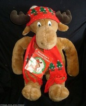 "24"" VINTAGE 1986 COMMONWEALTH CHRISTMAS MOOSTLETOE STUFFED ANIMAL PLUSH ... - $45.82"