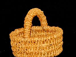 Handmade Woven Wicker Basket with Handle AA-191713 Vintage Collectible image 6