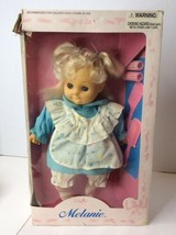 Vintage Uneeda Melanie Doll Baby Blonde Hair Soft Filled Body With Box NEW - $39.59