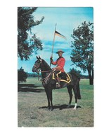 Royal Canadian Mounted Police on Horseback Mountie with Flag Vintage Pos... - $4.99