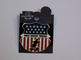 Walt Disney World Pin Mickey Mouse Silhouette 2002 US Flag United States Badge - $19.99
