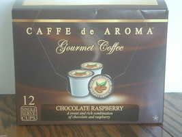 Caffe de Aroma Chocolate Raspberry flavored 12 Single Serve K-Cups OK fo... - $10.45