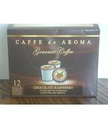 Caffe de Aroma Chocolate Raspberry flavored 12 Single Serve K-Cups OK fo... - $10.45