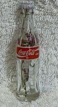 China Coke Coca-Cola Mini Miniature dried Purple Flowers crystal glass bottle image 6