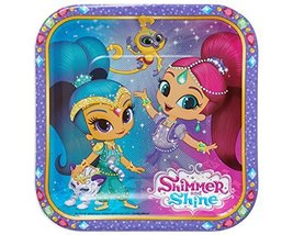 American Greetings Shimmer & Shine Paper Dessert Plates, 8 Count - $3.96