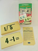 Vintage 1959 Help Yourself Division Flash Cards by Whitman ~ No. 4744 - $18.99
