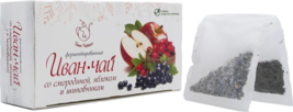 Ivan tea fermented with currants, apples and rose hips. 20 filter bags - $16.06