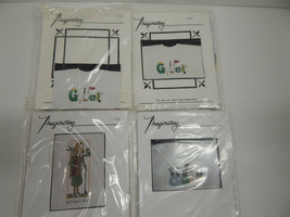 "Lot of 4 Imaginating Kits for Clothing ""Golf Theme"" Patterns Baste Waste Canvas - $7.43"