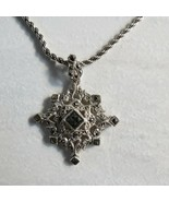 Victoria Crowne & Co VNtg Necklace Marcasite Sterling Silver 925 Star Th... - $54.44