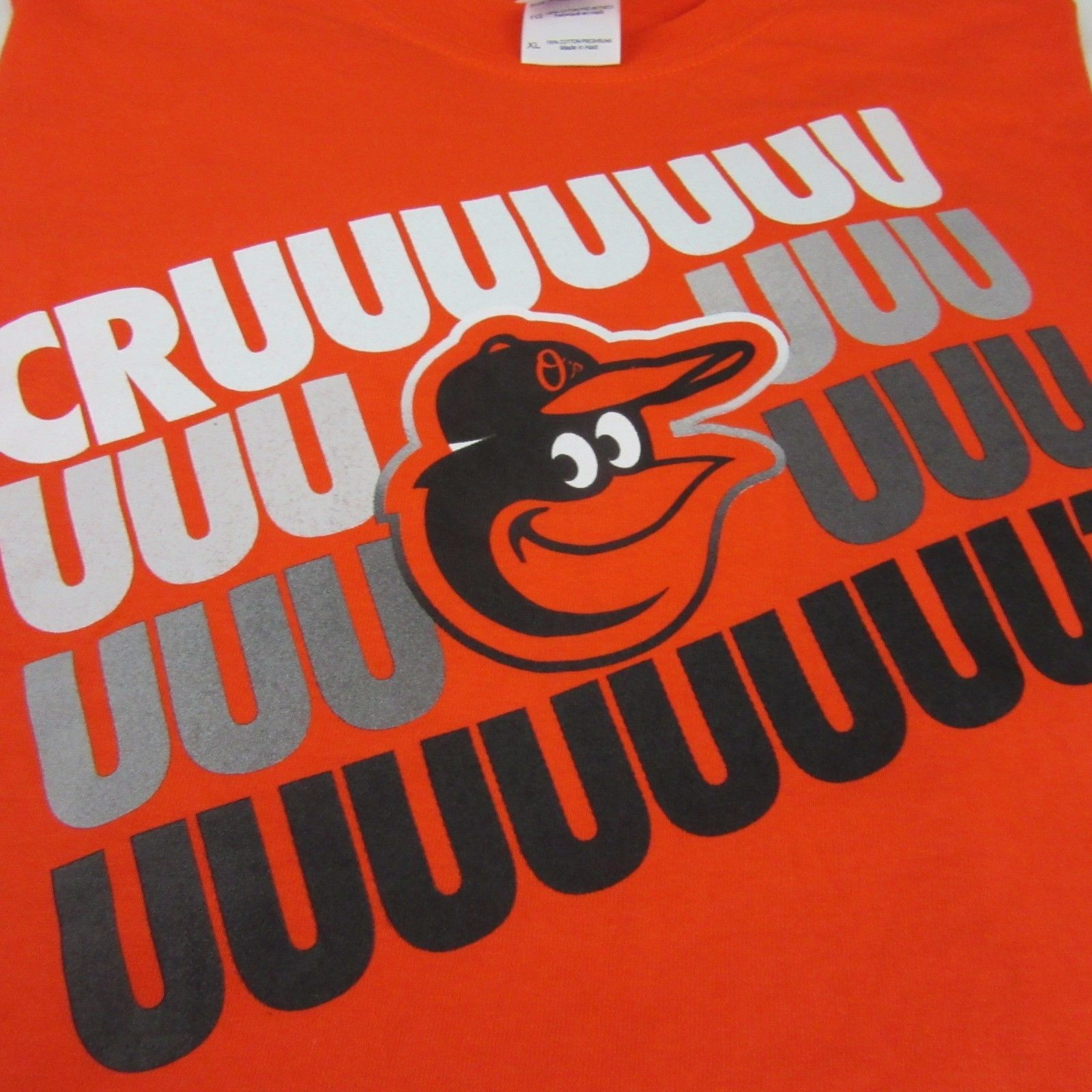 MLB Baltimore Orioles Nelson Cruz Orange Graphic T Shirt 100% Cotton size XL