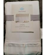 **New** Cloud Island Baby White Pleated Crib Skirt Nursery Bedding White  - $14.80