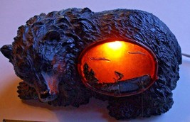 Black Bear Mantle Desk or Table Night Lamp Ligh... - $18.95