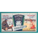 c 1930s INK BLOTTER AD Mentholatum Ointment for Cold & Sunburn - $4.49