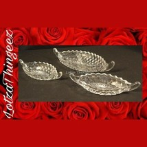 "Authentic 3 Pc Vintage Fostoria AMERICAN 12"" 2-Part Relish Trays +2 Smal... - $14.10"