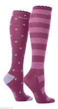 2 Prs Girls Over The Knee Stripe & Heart Elle Socks 9-12 Uk 27-30.5 Eur ... - $5.23