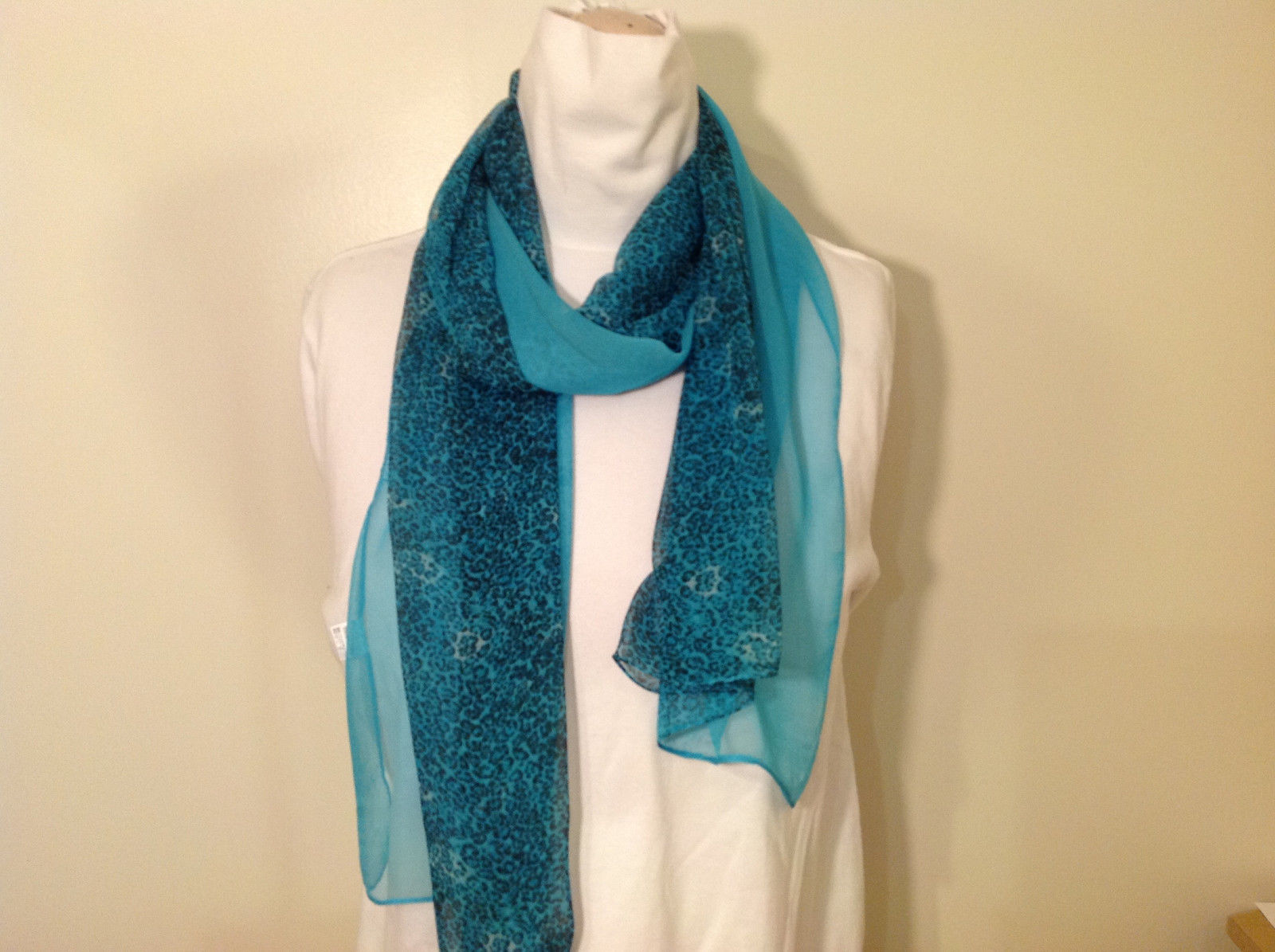 Leopard print Summer Sheer fabric Scarf, in choice of bright color