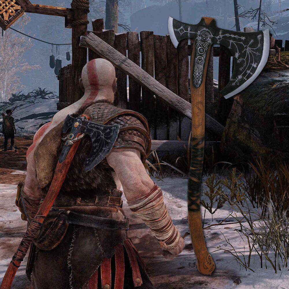 God of War Kratos Leviathan Axe Game Cosplay Weapon Axe Prop Rep 2018 God of War