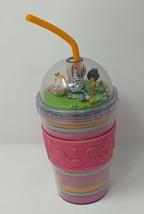 Kingdom Of Cute Plastic Tumbler Disney Parks White Rabbit Orange Bird Tiki Bird - $32.99