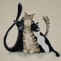 Design Works Kitty Trio Cross Stitch Kit, cat, aida - $21.99